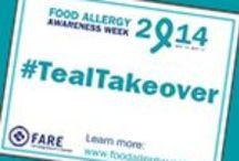 #TealTakeOver for Food Allergy Awareness / Food Allergy Awareness, Teal Take Over! Raise awareness by wearing TEAL!  / by Keeley McGuire Blog