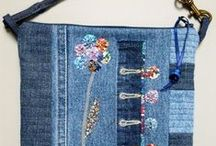 Denim Bags / Make handbag and other bags from upcycled denim.