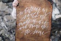 weddings / wedding inspiration: invitations, paper goods, signage, decor