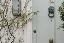 doors + wreaths