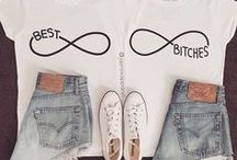 best bitches~ / this is where you will find bestie clothes and shit