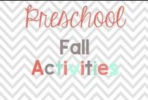 Preschool Fall Activities / Thanksgiving, Apples, Pumpkins, Halloween / by Glimmers of Learning