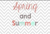 Spring/Summer / Arts and crafts, activities to do in the classroom and decorations around the house! A little mix of everything! / by Glimmers of Learning