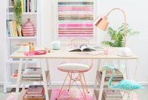 Deco: Office / Ideas para decorar tu oficina o despacho. Mucho color.