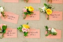 :: Escort cards - Plan de table :: / Idées plan de table