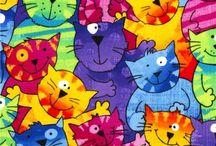 Kissoja piirrettynä
