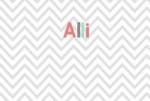 alli / by Glimmers of Learning