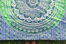 Mandala / El mandala como protagonista.  Diseños de toallas con dibujos de mandalas y otro tipo de diseños.