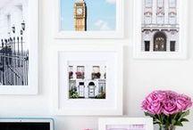 Deco: pared de fotos / Ideas e inspiración para decorar las paredes con diferentes cuadros y fotos. ¿Cómo hacer un mural? ¿Cuáles son las mejores ideas para combinar diferentes tamaños?