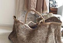 Basket bag / Diseños de bolsas de paja