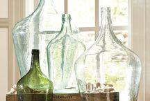 Deco: damajuana jarrones / Decora tu casa con estos precisos jarrones de cristal conocidos como damajuana.