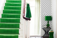 Entry / Entryways and hallways filled with color, pattern, and gallery walls