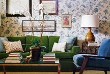 Living Rooms / Colorful, casual, thrifty, and green living rooms