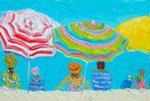 Beach Paintings for Coastal Decor / Beach paintings for the beach lover and for your coastal decor.