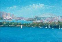 Sydney Harbour, Bridge and Opera House Art / Original oil paintings of Sydney Harbour, Opera House and the Bridge