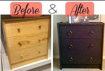 Furniture DIY Projects / DIY projects including painting and refinishing furniture