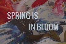 Spring is in Bloom / Trending for Spring are bold watercolor prints and innovative novelties. Don't you just love the colors Spring brings us?  Follow Esteban Interiors on Facebook and Instagram too.