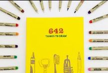 642 Things / Stretch your creativity with the 642 Things series! Get inspired to draw, write, paint, or photograph with offbeat and clever prompts.  / by Chronicle Books