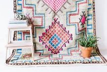 quilts and rugs / colorful and unique textiles for home and making