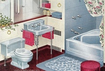 1940s Hollywood Glam Bathroom / Inspiration for my vintage style bath remodel and some of the end results