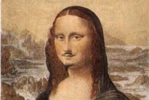 """Mona Lisa / """"La Joconde sourit parce que tous ceux qui lui ont dessiné des moustaches sont morts."""" Malraux / by la galerie imaginaire"""