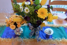 Mardi Gras Flowers and Tablescapes / Mardi gras decorating
