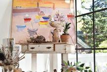 Cottage Art Studios / Home art studios decorating art studios