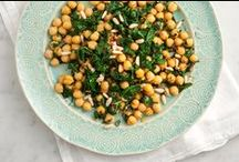 Chickpeas, neither a chick nor a pea, discuss. / They're not just for hummus anymore. We have been seeing them in everything from blondies to tacos. Chickaboom! / by Orange Chef
