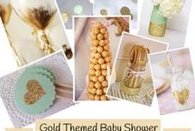Gold Themed Baby Shower / http://themuslimahmommy.com/gold-themed-baby-shower/