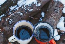 Hot coffee, no lid.