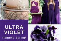 Farbe des Jahres 2018: Ultra Violet / Bei der eigenen Hochzeit sollte es vorrangig um den persönlichen  Geschmack gehen. Trotzdem möchte ich euch die Farbe des Jahres 2018 nicht vorenthalten: Ultra Violet!