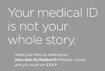 My (More Than My Medical ID) Life / Enter our More than My Medical ID Pinterest contest with your own board and you could win a $300 American Express gift card! Your medical ID is not your whole story. Fill you board with pins that tell the story of your life. Be sure to tag your posts with #AmericanMedicalID, #MoreThanMyID, and #MyMedicalIDLife |  Visit www.americanmedicalid.com/extras/pinterestcontest.php for details. / by American Medical ID