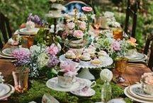Tea Party / tea, tea time, tea party, entertaining, tea party ideas, tea party settings, tabletop, tea party food, tea party decorations, centerpieces, tea party table