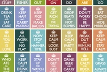 """Calm Down!!! / All of the """"Keep Calm"""" pins (and spin-offs thereof) that I can find!!! / by Jen Knapp Long"""
