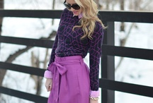 Rock PURPLE / The color of royalty, purple connotes luxury, wealth, and sophistication. It is also feminine and romantic. Wear purple for a night on the town or a romantic evening. Get your customized look! http://www.ragazzabazaar.com/your-style.html / by Ragazza Bazaar