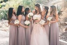 Bridesmaids / Wedding ideas for bridesmaid dresses and fashion