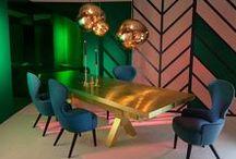 Sala de Jantar - Dining Room Ideas / Ideas, Tendências, Dicas de Decoração para a Sala de Jantar.  Veja mais:  http://www.tralhaodesigncenter.com/index.php/pt/ambientes-salas-de-jantar