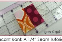 """1/4 inch seams / If you think I am manic about 1/4"""" seams and scant 1/4"""" seams you are quite right"""