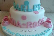 Christening Cake and Decor