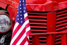U. S. of A. / Patriotism, Red White & Blue, July 4th, Flags,