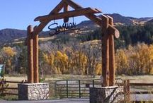 Dog Park Wooden & Metal Gateways / Ideas for gates and entry pergolas for new main gate at Barker Field.