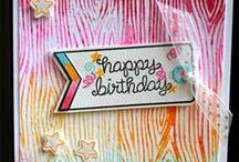 Birthday / Inspiration for Birthday Cards, and Party Decor