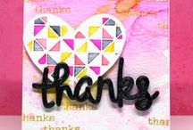 Thank You Cards / Sending someone a sweet thank you can really brighten their day. Here is some inspiration for you