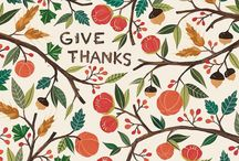 Give Thanks / Thanksgiving Crafts, Recipes, & Inspiration