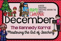 December Teaching Ideas / Fun winter themed activities for kids including Christmas, Advent, Christmas around the World for your classroom.  Find exciting science experiments with candy canes and STEM gumdrop construction ideas.