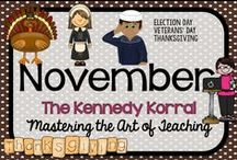 November Teaching Ideas / Fun fall themed activities for kids including pilgrims, turkeys, and Thanksgiving.  Find exciting science experiments and STEM ideas, too.