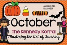 October Teaching Ideas / Fun fall themed activities for kids including ghosts, pumpkins, and Halloween.  Find exciting science experiments and STEM ideas, too.