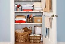 Home: Laundry & Linens / Inspiration for laundry rooms (and closets) and linen closets / by Rosalie