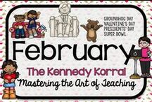 February Teaching Ideas / Fun winter themed activities for kids including Groundhog Day, Valentine's Day, and Presidents' Day.  Find exciting science experiments and STEM ideas, too.