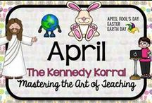 April Teaching Ideas / Fun spring themed activities for kids including recycling, Easter, and spring.  Find exciting science experiments and STEM ideas, too.